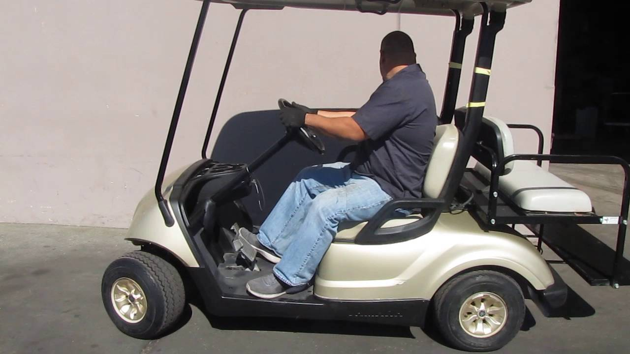 2010 yamaha ydrex golf utility cart 4 passenger 48v for Yamaha golf cart chargers