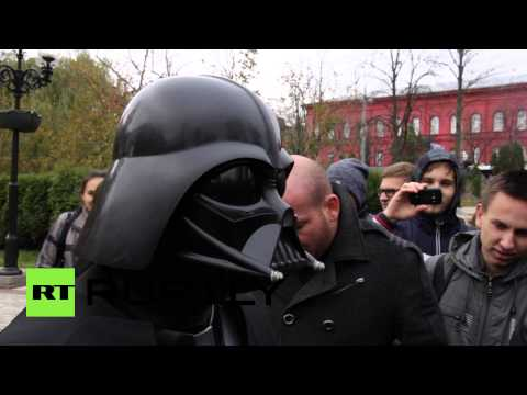 'I'll replace MPs with computers': Darth Vader campaigns for Ukrainian parliament
