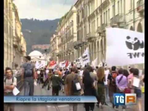 Manifestazione contro la caccia. Torino 17 settembre 2011