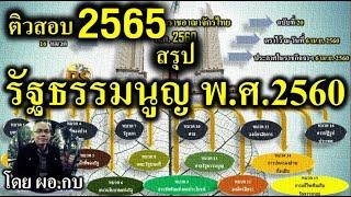 สรุปรัฐธรรมนูญ 2560