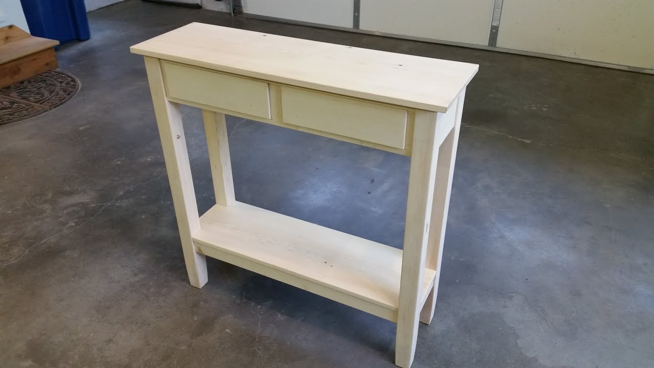 easy sofa table diy southern furniture leather simple hall youtube