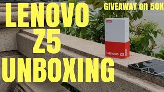 Lenovo Z5 Unboxing Handson Review China Variant - Hindi India