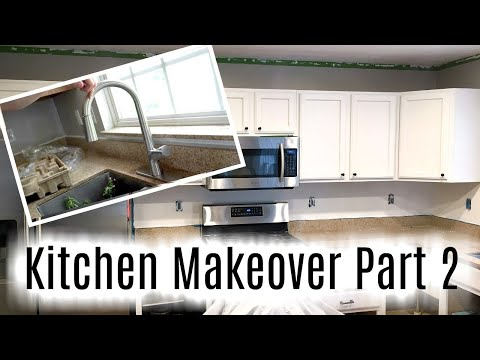 Kitchen Makeover Part 2: Lights, Faucet, Cabinets!