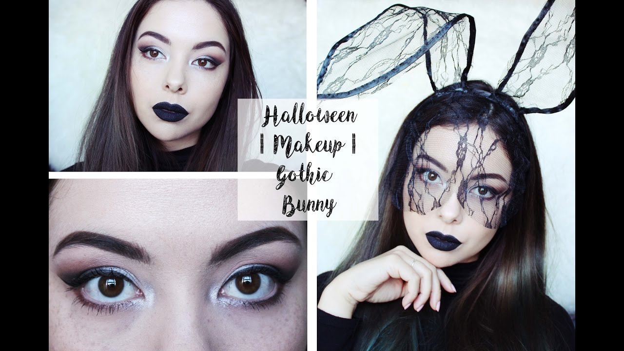 Halloween Makeup | Gothic Bunny - YouTube