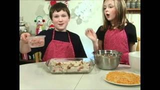 Two Kids Cooking Tv: Ham  Egg Breakfast Bake