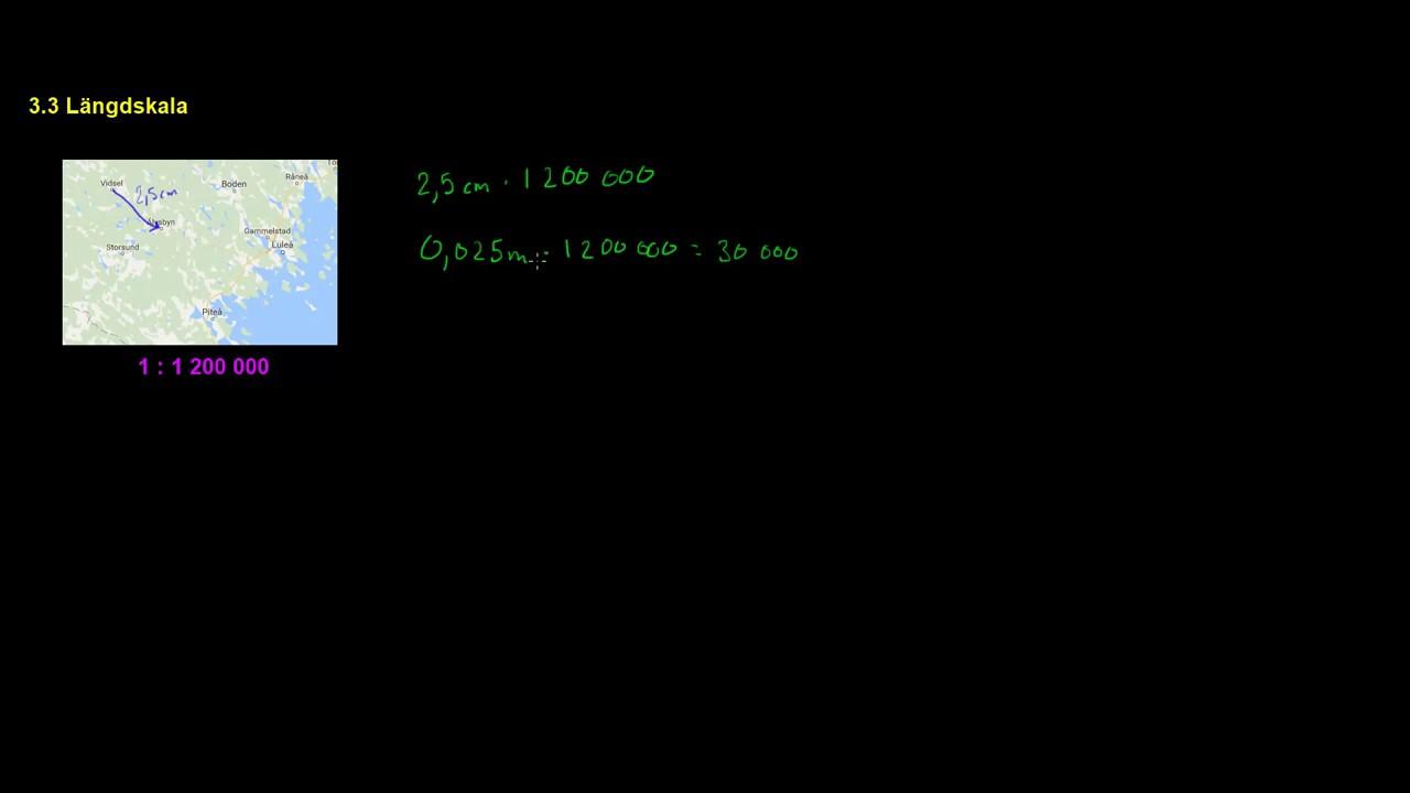 beräkna avstånd karta Kap 3.3 Längdskala Beräkna avstånd på en karta   YouTube beräkna avstånd karta