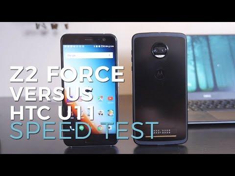 Moto Z2 Force versus HTC U11: speed test