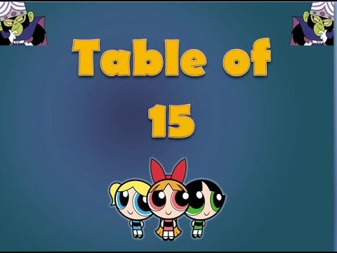 Learn Table of 15 | Table of 15 | Maths Tables