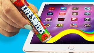 MAKE A STYLUS OUT OF CANDY!? ♥ DIY Touch Screen Stylus!