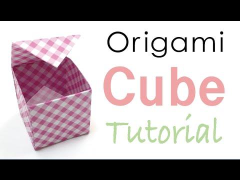 Origami Paper Cube Box Tutorial - Origami Kawaii〔#026 ... - photo#34