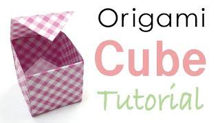 Origami Paper Cube Box Tutorial - Origami Kawaii〔#026〕