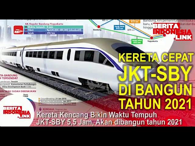 Kereta Cepat Jakarta-Surabaya dibangun tahun 2021