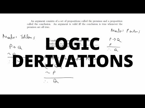 Simple Derivations for Logic Arguments