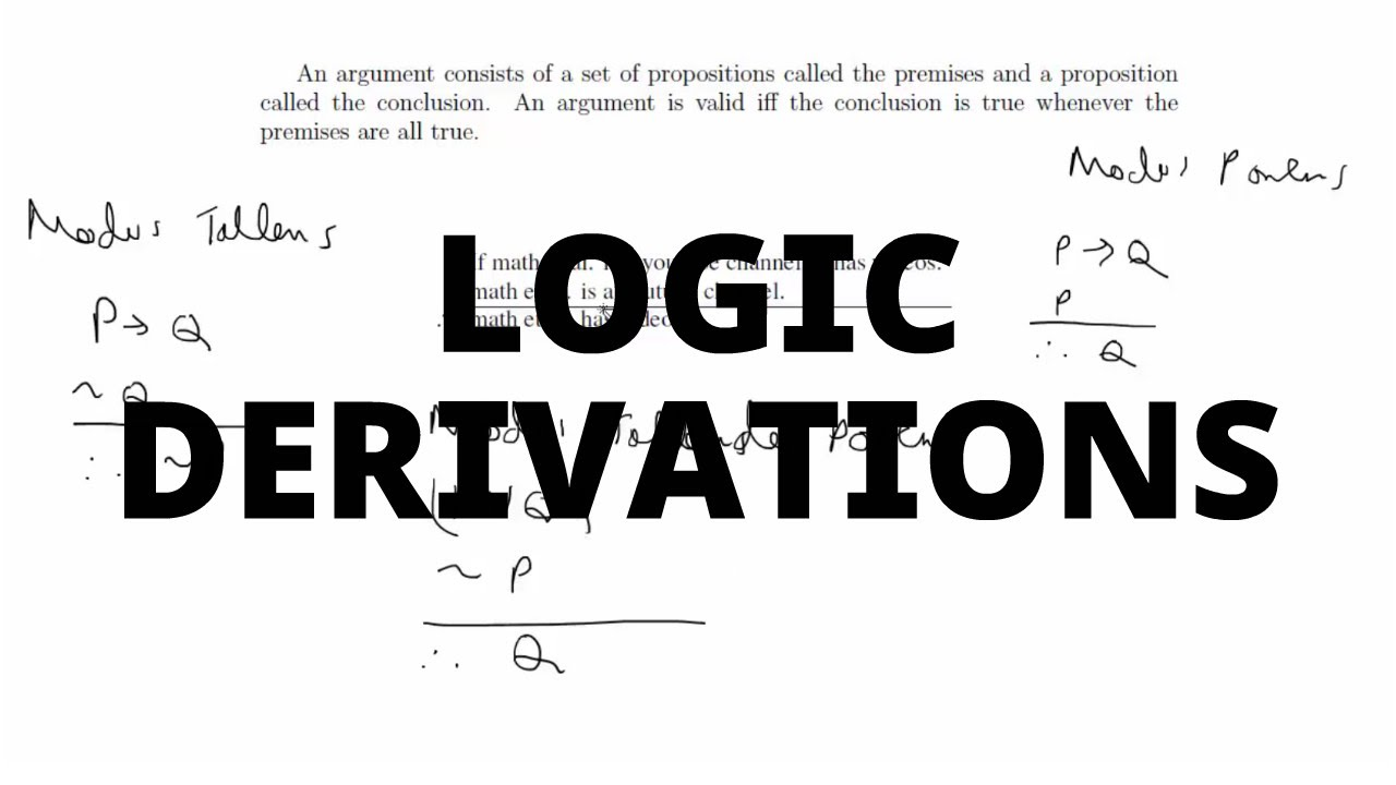 Simple Derivations For Logic Arguments Youtube