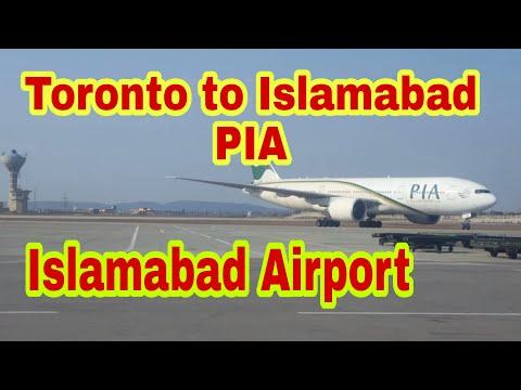 PIA Flight from Toronto to Islamabad, Landing & Parking at New Islamabad Airport #AzharHashmi