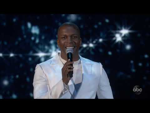 Leslie Odom Jr sings