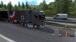 Euro Track Simulator 2 1.33  Roadside car Fire   Malmo to Vaxjo