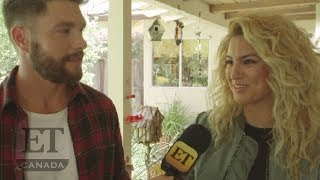 Chris Lane And Tori Kelly 'Take Back Home Girl' Video Shoot