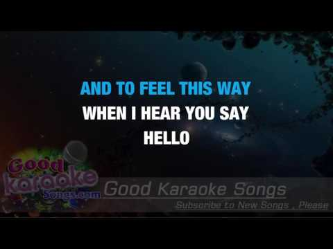Hello Again - The Cars ( Karaoke Lyrics )