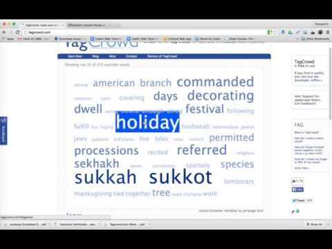 How To Use Tagcrowd, A Word Cloud Web Tool, For Judaic Instruction
