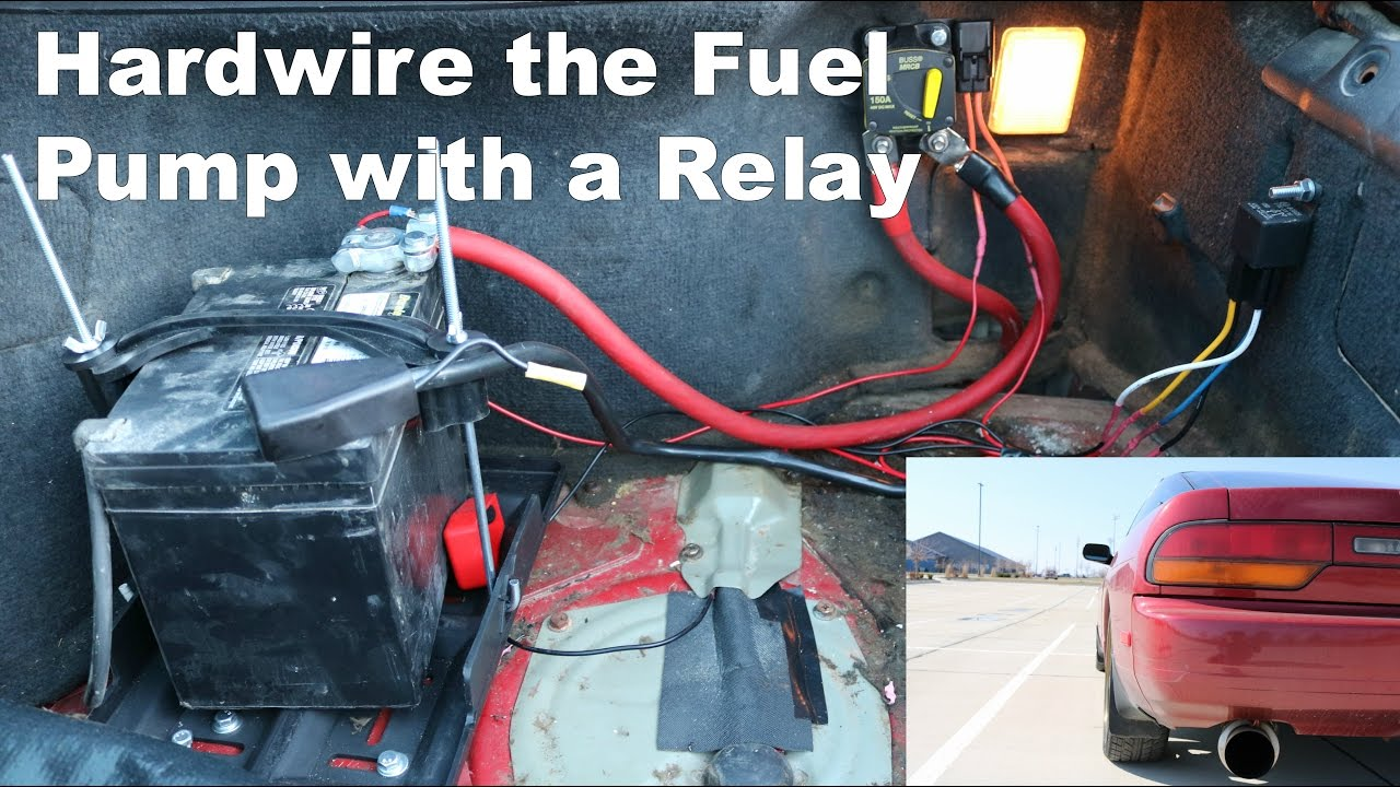 small resolution of fuel pump relay install on an s13 save your motor youtube fuel pump relay switch wiring diagram