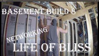 Basement Build 8   Network & Speaker Wire   Stair Lighting