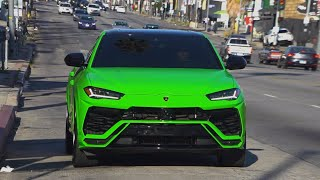 London On Da Track Apple Green Urus, Paris Blue Mclaren 720S, Sarkis is back..