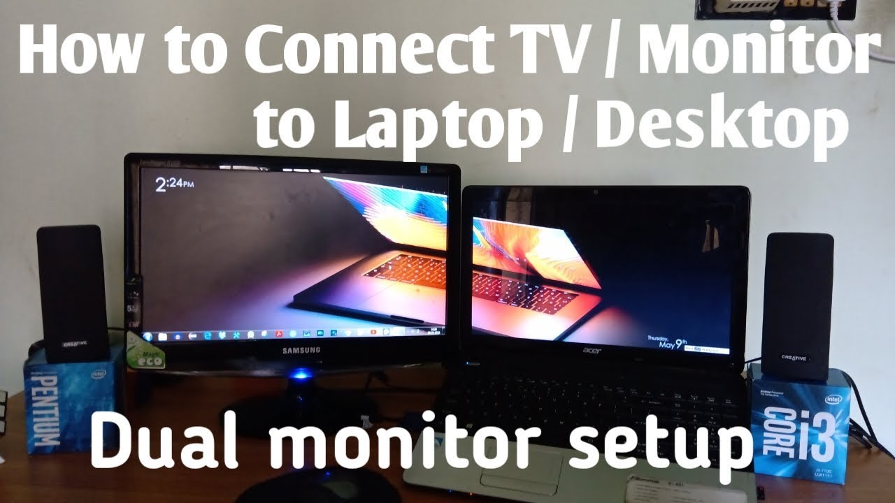✌️ how to setup dual monitors with hdmi laptop 2019