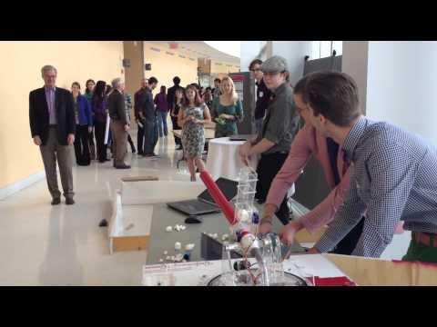 Engineering Students Built a Face-Tracking Marshmallow Cannon