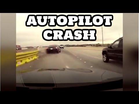 Accidente con Autopilot TESLA grabado en una dashcam
