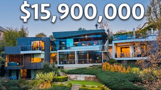 Touring a $15,900,000 FUTURISTIC Los Angeles Modern Mansion!