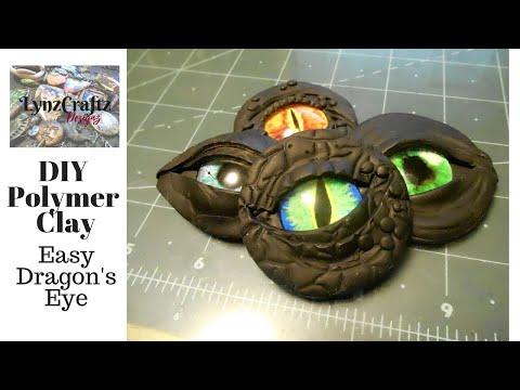 DIY Easy Polymer Clay Dragon's Eye