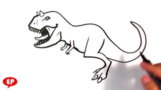 How to Draw Carnotaurus - Jurassic World- Easy Pictures to Draw