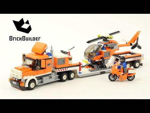 Lego City 7686 Helicopter Transporter Lego Speed Build Youtube