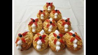 #117 크리스마스트리 생크림 과일 소보로빵 [홈베이킹…