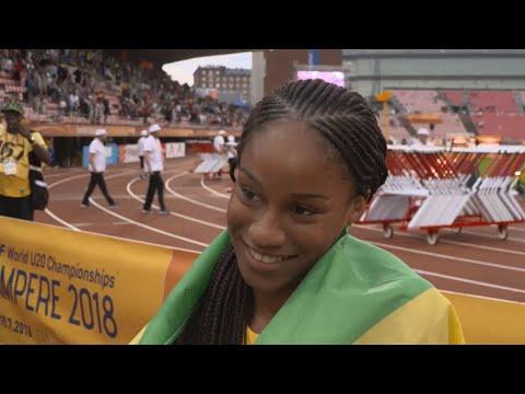 IAAF World U20 Tampere - Briana Williams JAM 100 Metres Gold