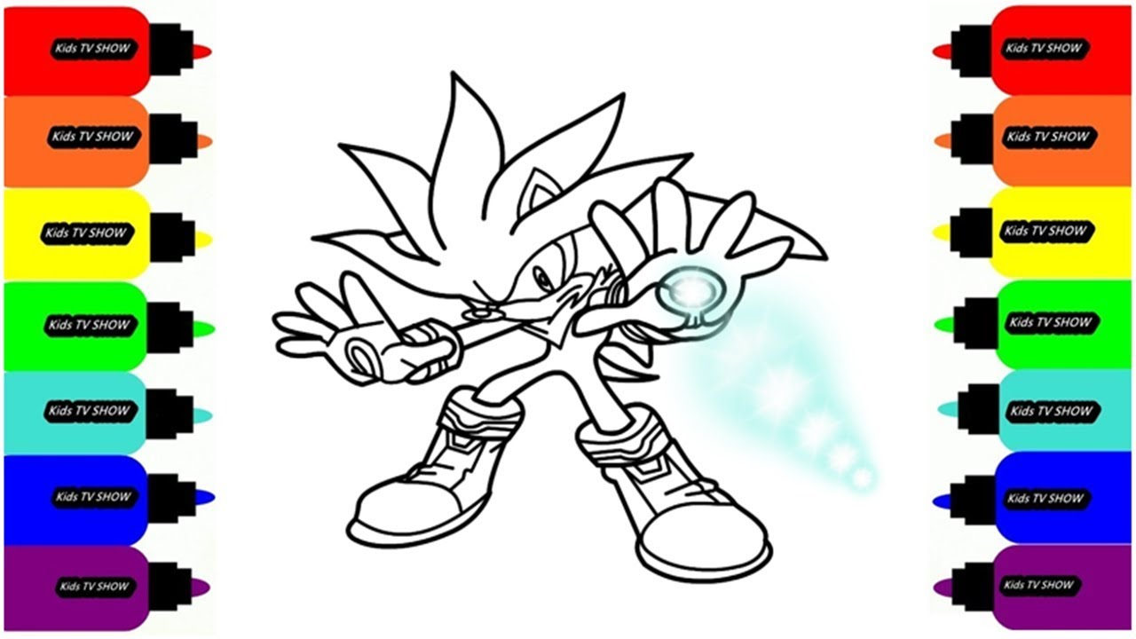 SONIC BOOM Coloring Pages for Kids Art Colors for Children