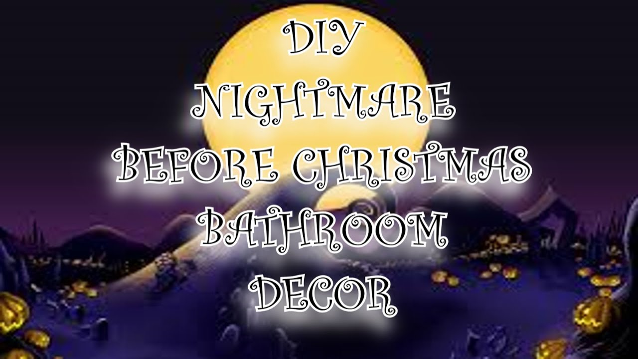 Jack skellington bathroom set - Diy Disney S Nightmare Before Christmas Bathroom Decor Jack Skellington Youtube