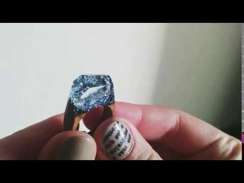 DIY Unique handcrafted ring made of wood and resin.