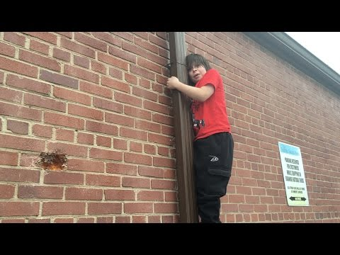 Rowan gets stuck on the side of a building!