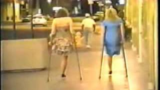 Two ladies, two legs