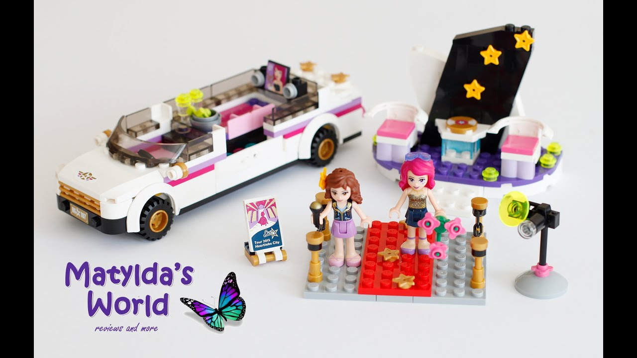 Lego Friends Summer 2015 Pop Star Limo Set 41107 Review