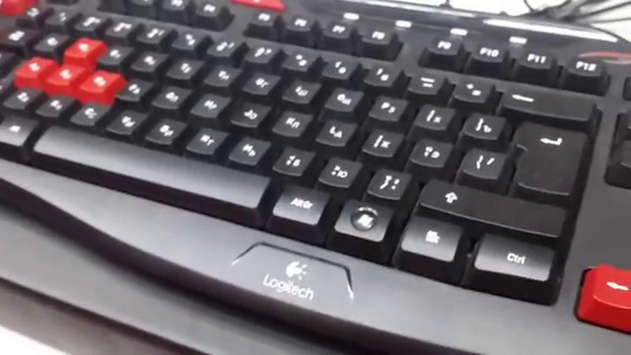 Драйвера для клавиатуры logitech g103.
