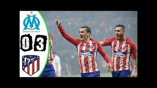 Marseille Vs Atletico Madrid 0-3 - Highlights & Goals (FINAL) 16/05/2018