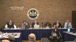 January 15, 2020 East Whiteland Township Board of Supervisors