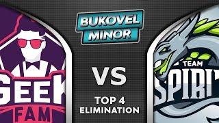 Geek Fam vs Spirit [TOP 4] Bukovel Minor 2020 Highlights Dota 2