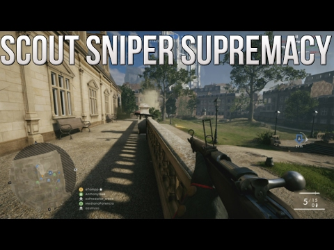 Scout Sniper Supremacy! - PS4 Battlefield 1 Road to Max Rank Ep. 92!  (BF1 Rush Amiens)