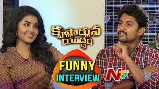 Nani and Anupama Parameswaran Interview About Krishnarjuna Yuddham Movie || NTV