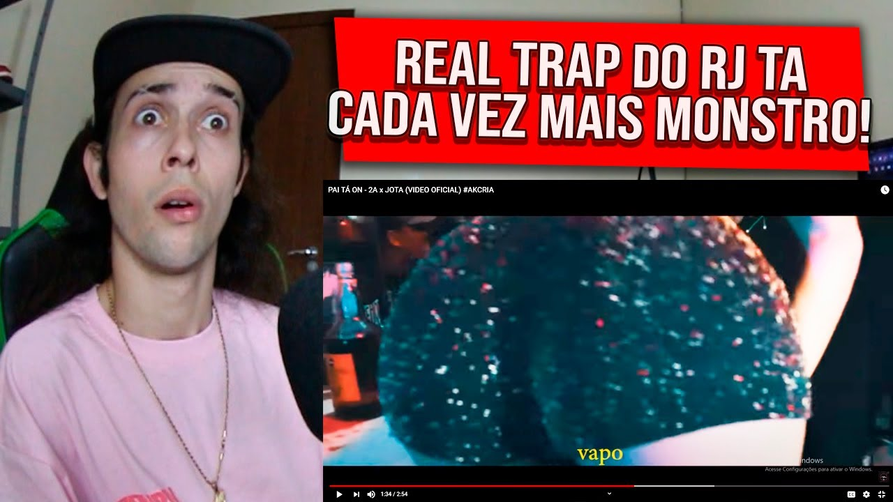 (O MAIS NOVO REAL TRAP DO RJ 🔥) REAGINDO a PAI TÁ ON - 2A x JOTA (VIDEO OFICIAL) #AKCRIA - REACT