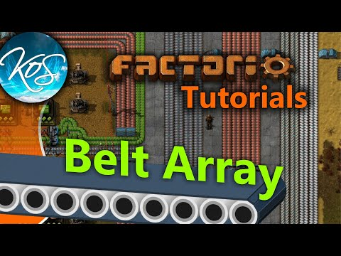 Factorio Tutorials: Belt Array